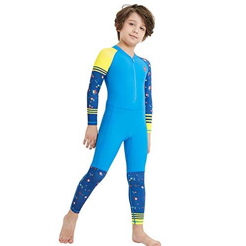 IOIOA Kinder Neoprenanzüge, Premium Neopren Badeanzug Kinder und Mädchen Jungen Jugend Schwimmen Surfen vor Zip Anzug,B,M - Premium-jugend-hosen