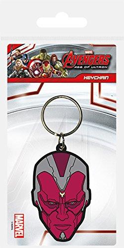 Pyramid International Avengers: Age of Ultron (Vision) Schlüsselanhänger 4,5x 6cm, Gummi, Mehrfarbig, 4x 6x 1,3cm