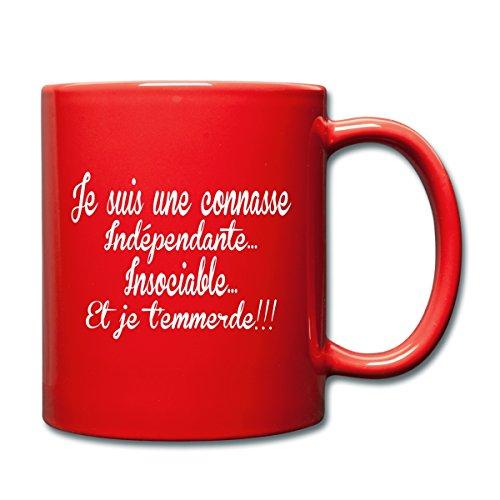 Spreadshirt Je Suis Une Connasse Mug uni, rouge