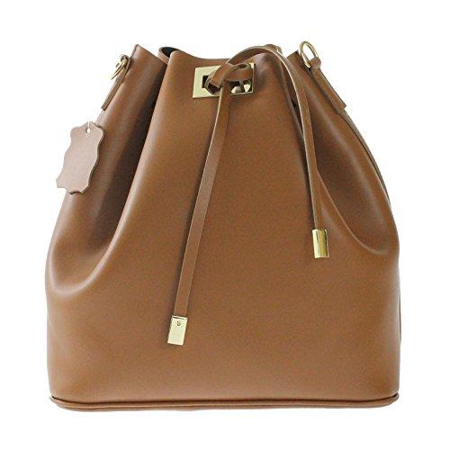 CTM sac à bandoulière de sac moyennes femmes en cuir véritable fabriquée en Italie 28x30x15 cm