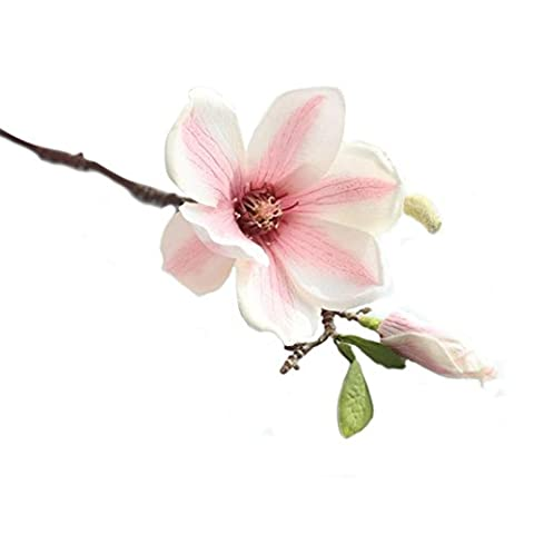 HUHU833 Künstliche Fake Blumen Blatt Magnolia 1PCS Künstliche Blumen Sträuße Real Touch Fake Blume für Dekoration Wohnaccessoires & Deko (Mehrfarbig) (B)