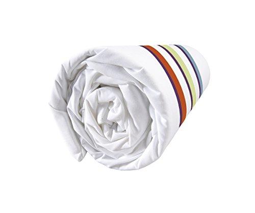 Matt & Rose Nuit Graphique Drap Housse Coton Vert/Blanc 200 X 140 cm