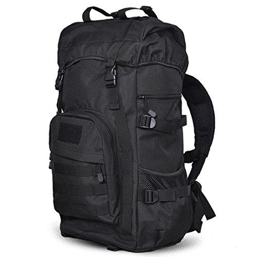 LF&F Backpack Camping outdoor Zaini Borse Borsa a tracolla tattica da camuffamento alpinismo equitazione zaino da campeggio 50 l di grande capacità impermeabile usura pratica uomini e donne zaino univ A
