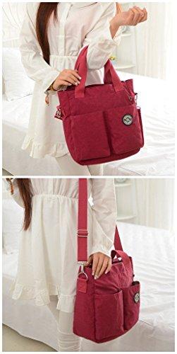 Tiny Chou - borsa a tracolla o a mano impermeabile, in nylon leggero, borsa per mamme. Blu (Blu navy)