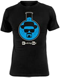 Breaking Bad - T-Shirt Flacon - Mr. White - Heisenberg - Noir
