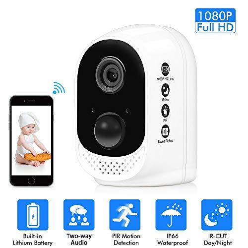 Säuglings-sensor (Wireless WiFi Monitor 1080p Wifi Batteriekamera USB-Ladeanschluss Eingebauter PIR-Sensor Low-Power-Technologie Geeignet für Säuglinge/Alte)