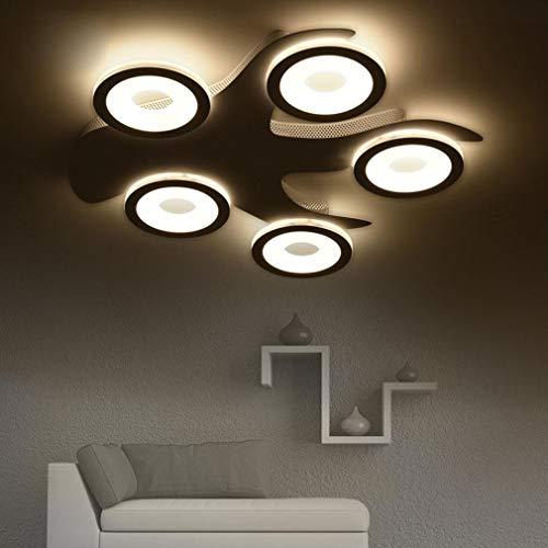 ♪ Moderne LED Baum Deckenleuchte Fernbedienung Design 5-Lights Deckenleuchte Kreative Acryl Eisen Kronleuchter Wohnzimmer Esszimmer Schlafzimmer Studie Deckenbeleuchtung 40W L58cm * W56cm Verdunklung -