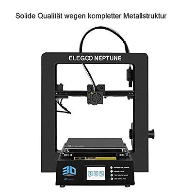 ELEGOO NEPTUNE 3D Drucker FDM 3D Printer Metall Prusa i3 Bauraum 205 x 205 x 200 mm Kompatibel mit TPU/PLA/ABS Filament