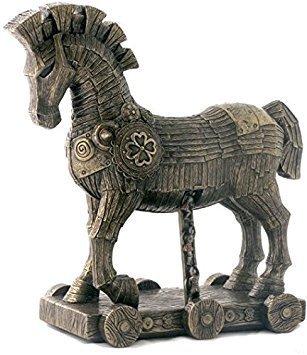 27,3cm die griechische Trojanisches Pferd kalt gegossen Bronze Skulptur Figur