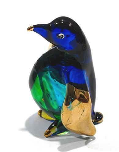 Handmade Pinguin Art Glas geblasen Sea Tier-Figur/Figur