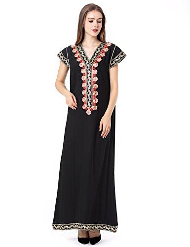 Muslim Abaya Dubai kleider für Frauen islamischen Kleid Islamische Kleidung muslimische Kaftan Rayon Gewand Jalabiya 1630 (Islamische Kleidung)