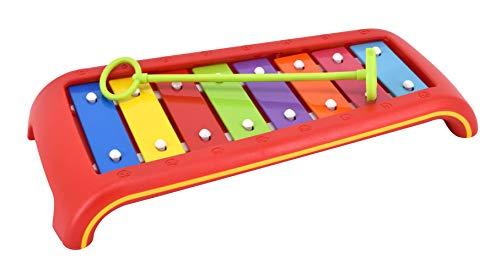 Kinder-Glockenspiel: 8 Klangplatten C bis C (diatonisch)