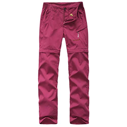 emansmoer Damen Outdoor Quick Dry Wicking Abnehmbar Zip Off Bein Hose Frauen Casual Reisen