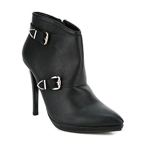 Cendriyon, Bottine Noire Chic SOLINE Chaussures Femme Noir