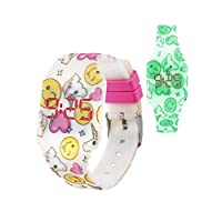 KIDDUS Cool Digitaal LED Horloge Voor Jongens, Meisjes, Kids, Kinderen. Van Zacht Siliconen Materiaal, Met Krachtige Japanse Batterij. Gemakkelijk Af Te Lezen En Om De Tijd Te Leren. FLUOR effect