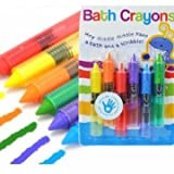 6Pcs Colorful Child Baby Bath Crayons Toys Washable Painting Drawing Doodle Brush Safety Wax Pen
