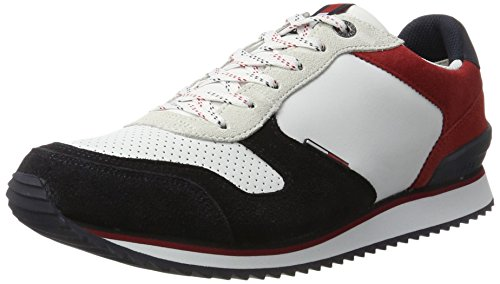 Hilfiger Denim Men Sm B2385arton 4c Sneaker Multicolor (rwb)
