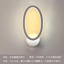 Lilamins Camera da letto,soggiorno,Studyroom Ledwall lampada Lampthatoval-Color comodino Lampada da parete