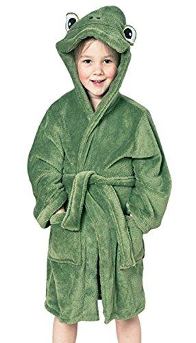 Kinder Bademantel Morgenmantel - für Jungen und Mädchen - verschiedenen farben - von Brandsseller (110/116, Grasgrün)