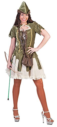 Robin Hood Kostüm für Damen Gr. 44 46 - Tolle Verkleidung für Fasching Film Party und (Film Robin Kostüm)