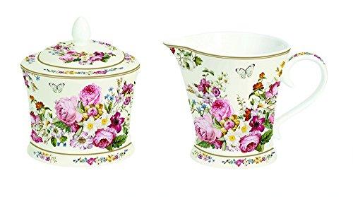 Easy Life 1351 Bloc Zuckerdose und Milchkännchen, Porzellan, Mehrfarbig, 18.5 x 9.5 x 9.5 cm