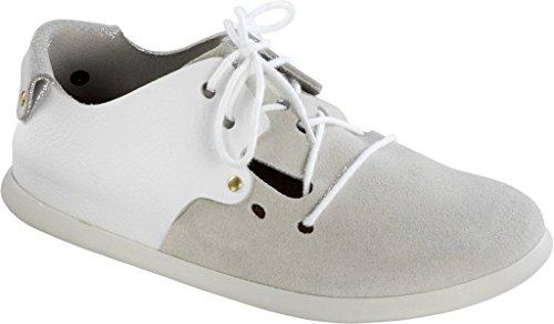 Birkenstock Schuhe ''Montana'' aus echt Leder in weiss mit breitem/normalem Fussbett Weiß