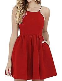 62a0db68abf1 Amazon.it  vestiti rossi - A portafoglio e sblusato   Vestiti ...