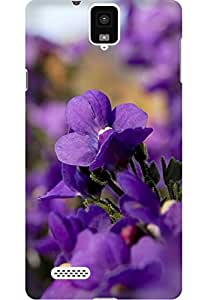 AMEZ designer printed 3d premium high quality back case cover printed hard case cover for InFocus M330 (purple flowers )