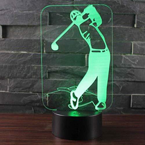 BDQZ Sport Serie Golf Thema 3D Lampe LED Nachtlicht 7 Farbwechsel Touch Stimmung Lampe Weihnachtsgeschenk Dropshippping (Golf-themen-dekorationen)