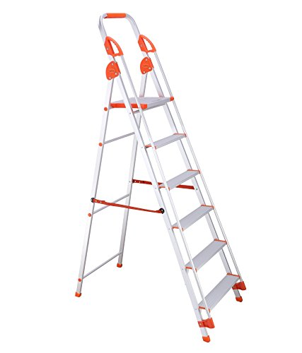Bathla Sure Step Titanium - 152 cm (5 ft.) Foldable Aluminium Ladder with Hand Rails & 5-Year Warranty