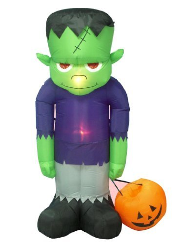 (BZB Goods 8 Foot Tall Huge Illuminated Halloween Inflatable Frankenstein's Monster Decoration by BZB Goods)