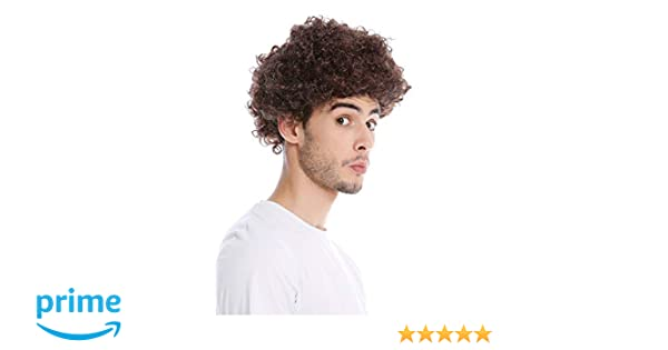 MMAM-9M-KF938 wig carnival men women short afro frizzy curly brown reddish brown WIG ME UP /®