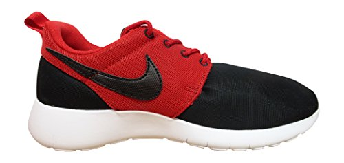 Nike Rosherun Scarpe da Corsa, Unisex Bambino Nero / Rosso / Bianco (Black / Black-Gym Red-White)