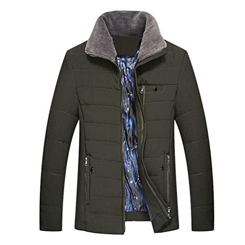 Betrothales Kunstpelz Herren Winddichte Kragen Bomberjacke Winterjacke Steppjacke Revers Jacken Verdickte Elegant Warme Wintermantel Outwear...