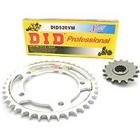 D.I.D - Set catena, corona e pignone per Kawasaki GPZ 500 S, anno di fabbricazione 1994-2003, catena serie VM con anelli X-Ring