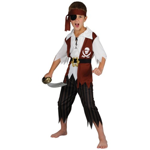 Cutthroat pirate children kids costume fancy dress up ()