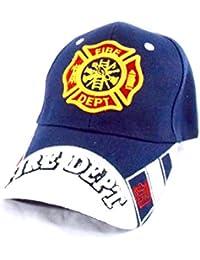 U.S Fire Department - Casquette brodée embleme des Pompiers americain - Bleu - Taille Unique