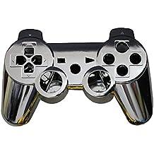OSTENT Kit di pulsanti di alloggiamento della scatola del controller completo compatibile per controller Sony PS3 Bluetooth - colore argento