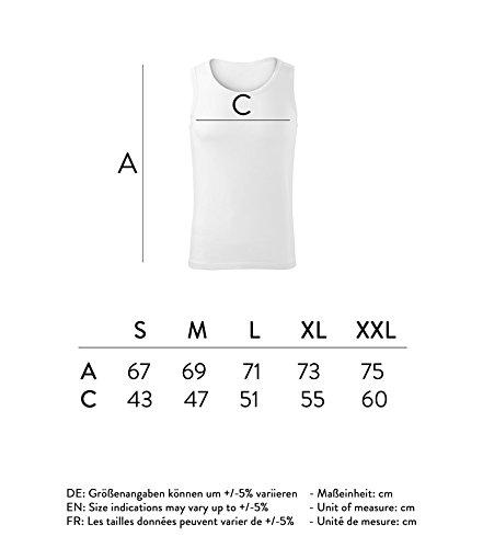 Herren Top why the hell not Unterhemd Shirt - schwarz & weiß mit Motiv - Tank Muskelshirt T-Shirt bedruckt Poloshirt mit Motiv - Neu S - XXL Weiß