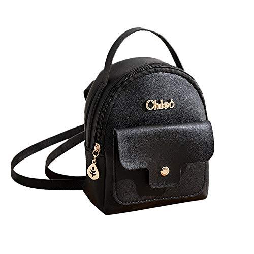 LMRYJQ Mode Damen Schultern kleiner Rucksack Brief Geldbeutel Handytasche Mini-Tasche Handtasche