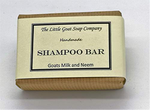 1 x Shampoo Bar - Goats Milk and Neem Oil 100G. Eczema, Psoriasis, Seborrhoeic Dermatitis.