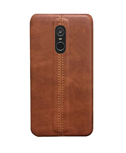 RGSG for Fancy Designer Synthetic Leather Back Cover Case for Xiaomi Redmi Note4 (Dark Brown)