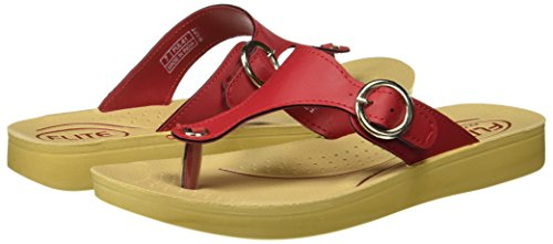 FLITE Women's Red Slippers - 8 UK/India (42 EU)(PUL061L)