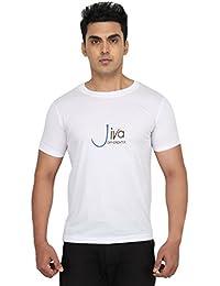 Jiva Round Neck Casual T Shirt WHITE-1PC