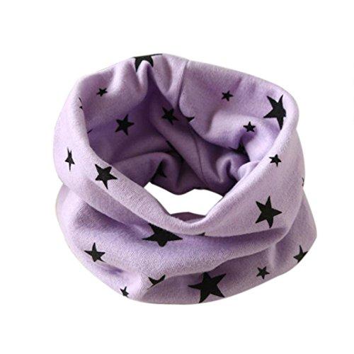 lstuch , Kobay Herbst Winter Jungen-Mädchen-Kragen Baby Schal Baumwolle O-Ring Hals Schals (Für 2 -10 Jahre alt., Lila) (Weihnachten Geschenke Für Zwei-jährige)