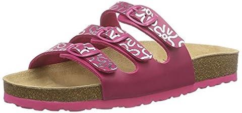Lico BIOLINE TEENAGER, Mädchen Flache Hausschuhe, Pink (PINK/SILBER), 35 EU (2.5 Kinder UK)