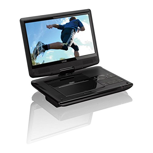 Logik L10SPDV13 10  Inch Portable DVD Player  In Car Kit   Rechargeable  Remote Control  High Resolution 1024 x 600p Screen