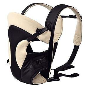 41Py6q K7sL. SS300  - FEMOR Mochila bebé Ergonómico Transpirable Infantil Portabebé Recién Nacido Mochila Sling Wrap 3 en 1 (Negro+Blanco)