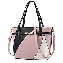 4c4f4b9486458 Damen Leder Handtaschen Schulter Tasche Frauen Casual Tasche weiblichen  Patchwork Handtaschen Sac A Main Damen Taschen