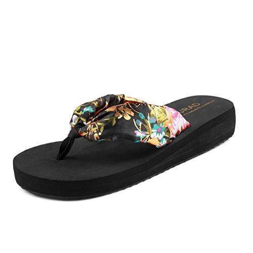 ladies infradito/Piattaforma con antiscivolo clip in estate/Pantofole C